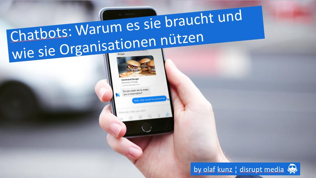 Vortrag von Olaf Kunz zu Chatbots in Organisationen